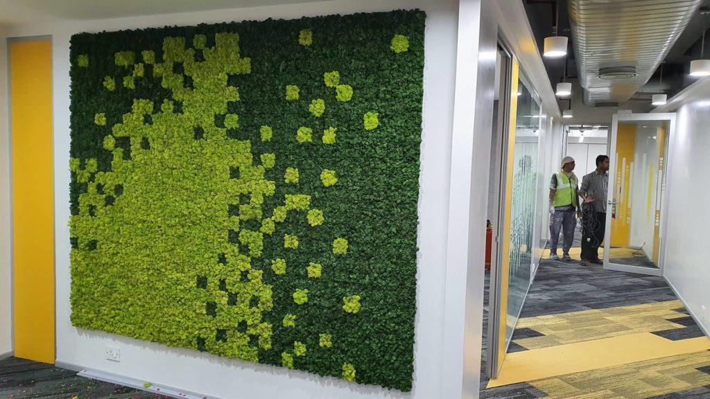 Greenopia Moss wall in KOLKATA - Pfizer 1920 1080px-min